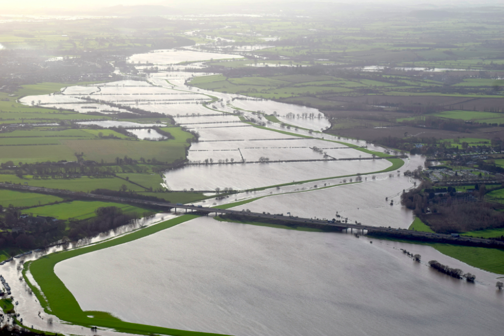 River Severn flooded